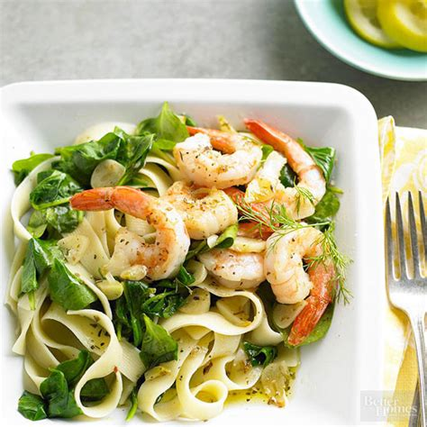 lemon dill shrimp pasta