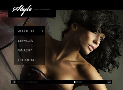 Hair Salon Facebook Flash Template 35450 Hair Salon Website Design Templates Free