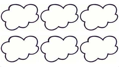Cloud Template Printable Cloud Template Cliparts Co