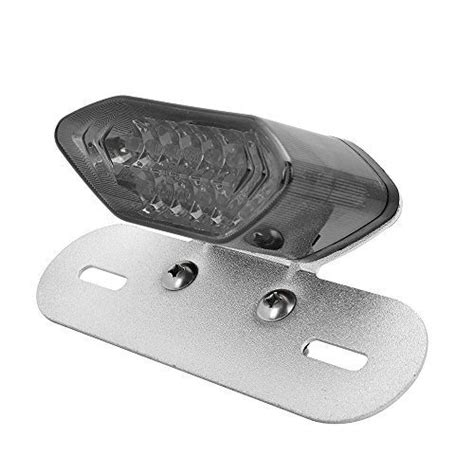 Custom Led Plate Taillight Turn Signals For Suzuki Gsxr 600 750 1000 1 astra depot smoke lens 20 led license plate mount turn signal brake stop running integrated