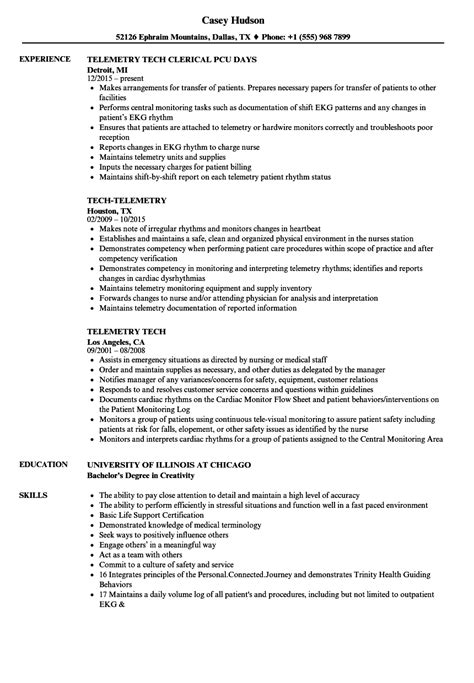 Tech Resume by Telemetry Tech Resume Sles Velvet