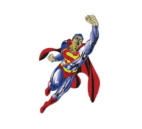 superman painting free superman vector clipart best