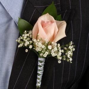 classic rose light pink  white boutonniere  corsage