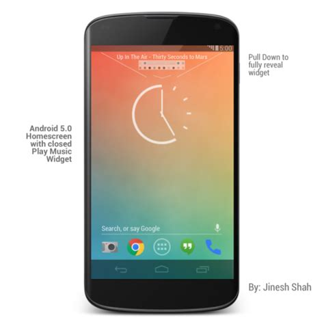android 5 0 ui and lockscreen concept by jinesh shah concept phones