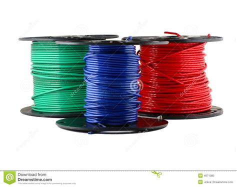 spools of wire stock photo image 4671080