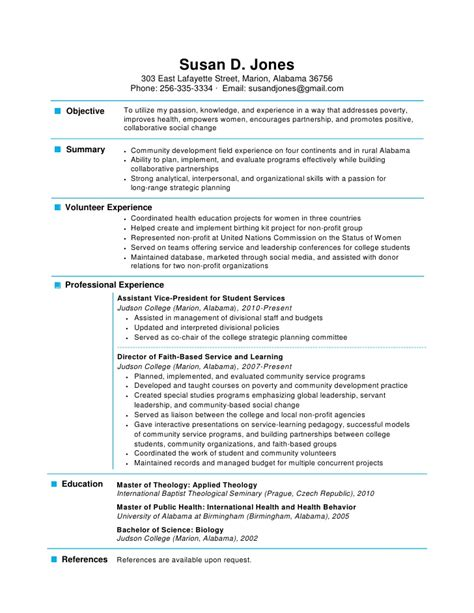 Sle Of One Page Resume one page resume