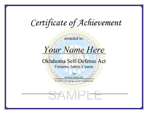 nra certificate template nra certificate template image collections