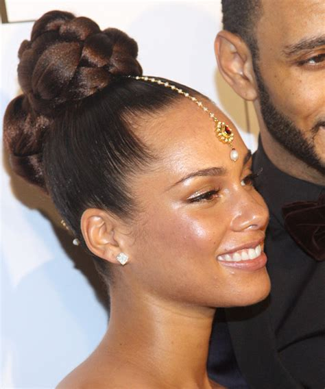 different hair styles from alicia keys alicia keys updo long curly formal updo hairstyle