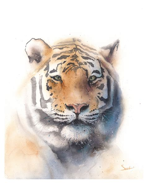 How To Paint Wall Murals spirit tiger abstract animal paintings