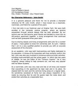 Character Letter Custody Character Letter For Court Templates 8 Free