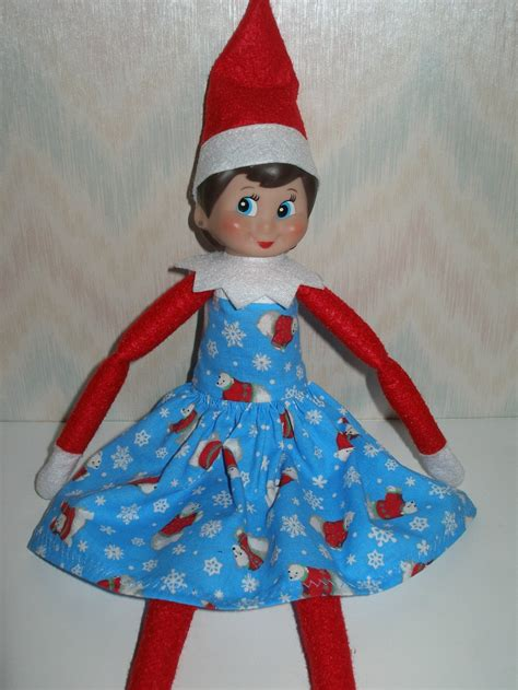 Clothes Pattern For Elf On The Shelf | elf on the shelf clothes blue red and white polar bear