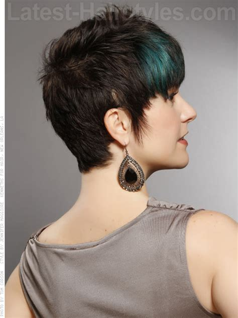 short modern hairstyles for women including blue streaks different style but i like the jewel toned teal peekaboo