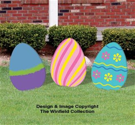 diy large easter eggs woodcraft pattern set would be