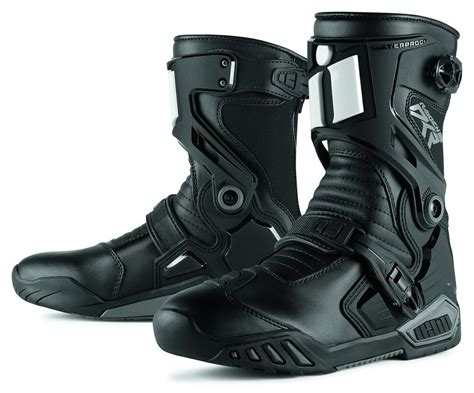 motocross riding boots 109 33 icon mens raiden dkr armored rear entry zip 204627