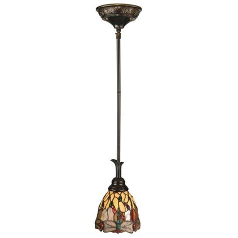 tiffany pendant lights kitchen dale tiffany dragonfly 1 light antique bronze mini pendant