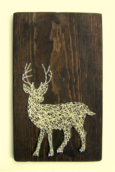 white tailed deer silhouette modern string tablet
