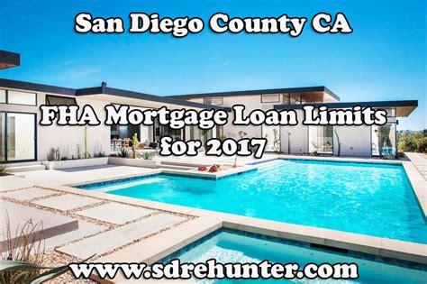 Fha Loan Number Search San Diego County Ca Fha Mortgage Loan Limits For 2017