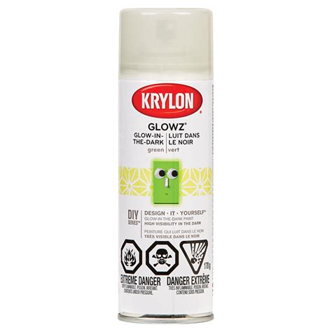 glow in the paint krylon krylon glow in the paint glowz green r 233 no d 233 p 244 t