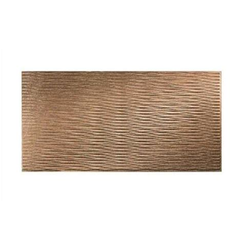 Decorative Wall Panels Home Depot Fasade Dunes Horizontal 96 In X 48 In Decorative Wall Panel In Cracked Copper S71 19 The