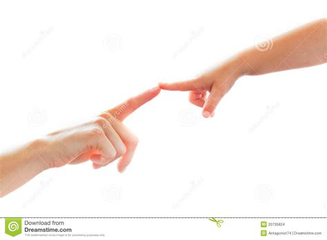 to finger mother and child touching finger on finger stock images