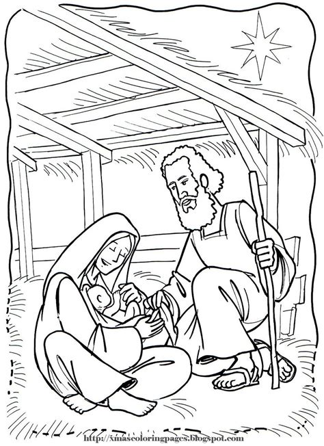 nativity coloring page coloring pages