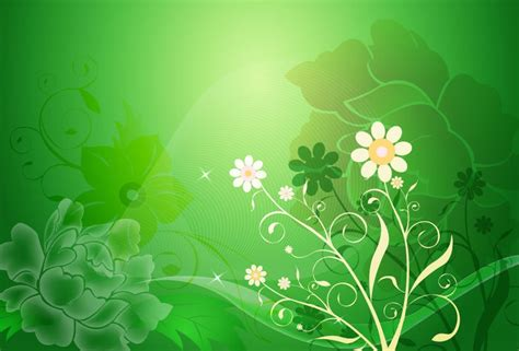 background design with flowers vector floral design on green background free vector