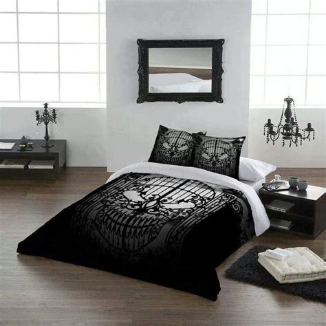 skull bed spread skull bedding skulls pinterest