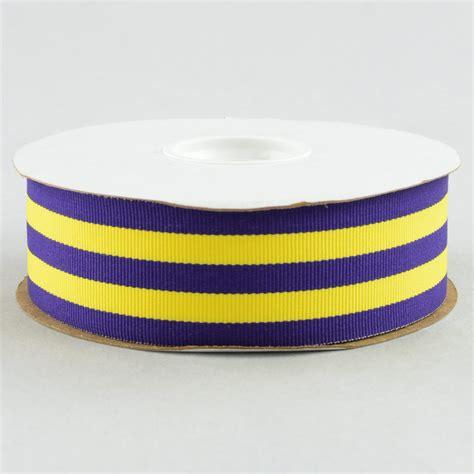 grosgrain ribbon 1 5 quot purple gold striped grosgrain ribbon 25 yards