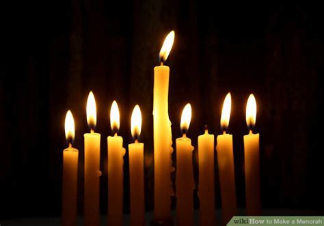 how to light a menorah 3 ways to a menorah wikihow