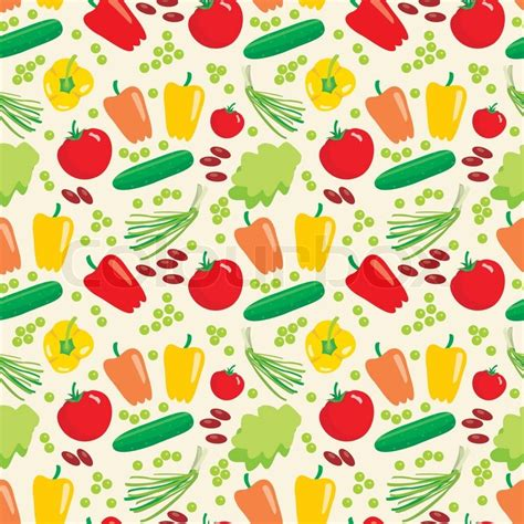 vegetables pattern wallpaper cute vegetable textile stock vector colourbox
