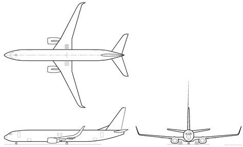 737 Coloring Page by Boeing 737 900