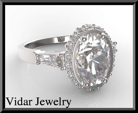 vintage oval engagement ring vidar jewelry