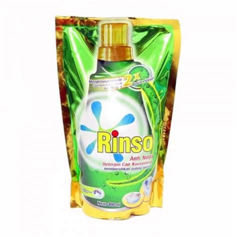 Deterjen Rinso Cair Anti Noda 800 Ml Rinso Cair 800ml rinso anti noda cair refill 800ml