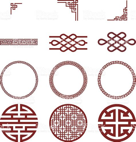 korean pattern vector free chinese paper and traditional pattern stock vector art