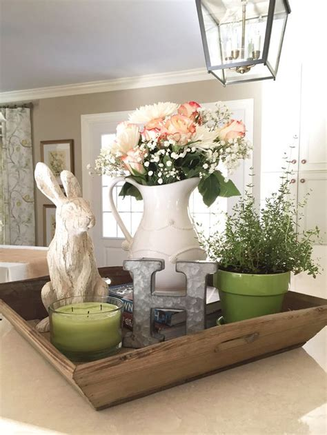 kitchen island centerpieces spring decor pins from pinterest fresh flowers rabbit
