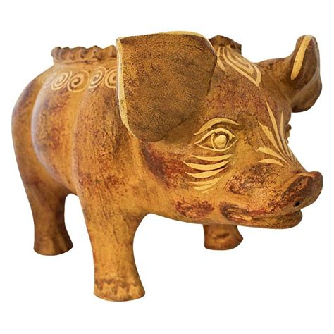 Pig Planter by Rustic Planters Collection Standing Pig Planter Cbp010