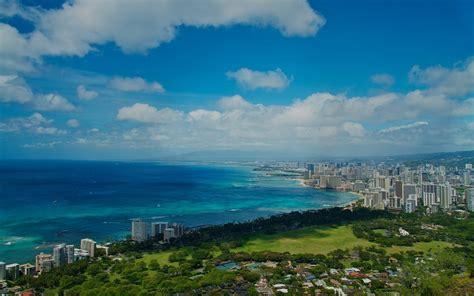 ocean sky city scenery hawaii wallpapers ocean sky city