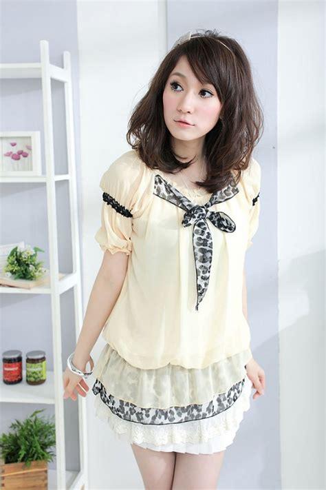 Fashion Wanita Blue Leisure Top fashion korean japanese fashion cloth style