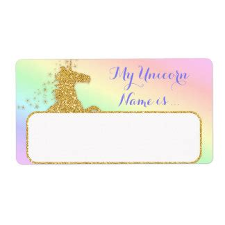 Unicorn Labels Address Return Address Labels Zazzle Co Uk Unicorn Label Template