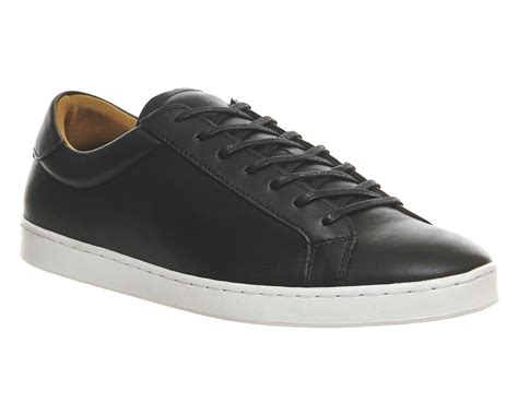 black sneakers white sole ask the missus channing sneakers black leather white sole