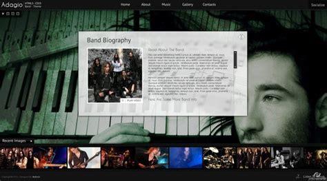 themeforest nitro adagio musician template html5 css3 by nitro themes