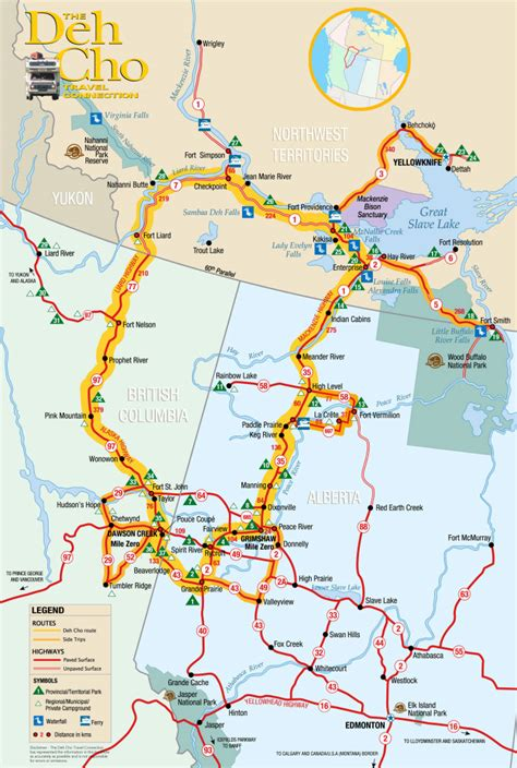 printable map of yellowknife the route spectacular northwest territories