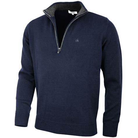 ebay zips calvin klein golf mens chunky cotton sweater c9187 ck half