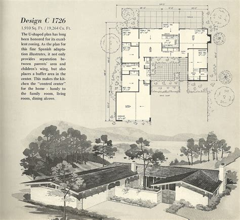 1960s ranch house plans mid century ranch house plans vintage house plans 1726 antique alter ego