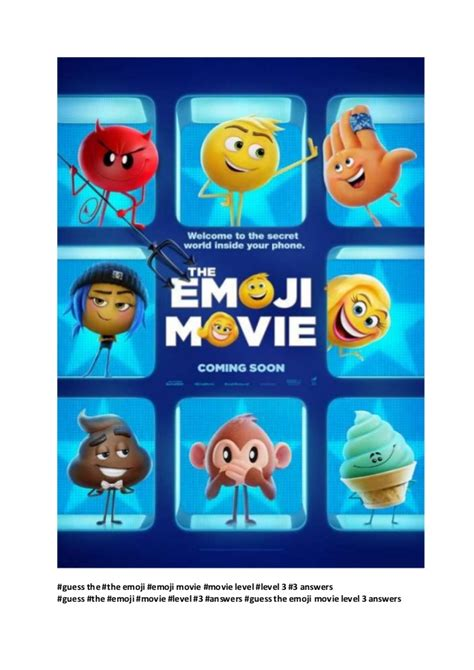 emoji movie watch online emoji movie guess the emoji movie level 3 answers watch