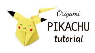 Pikachu Origami - origami pikachu tutorial diy paper kawaii
