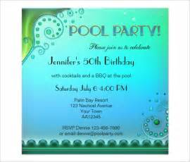 Pool Invitations Free Templates by Pool Invitation Template 37 Free Psd Format
