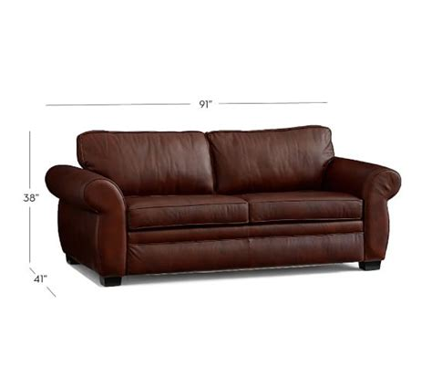 pearce sofa pearce leather sleeper sofa pottery barn