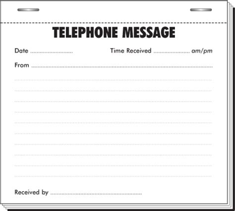 telephone message pads