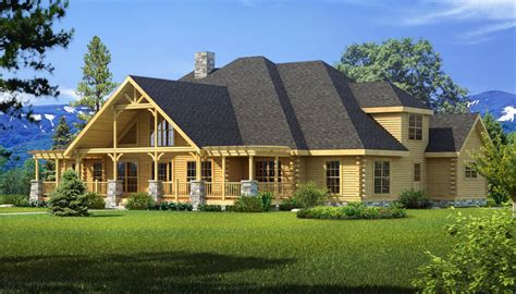 log cabin lodge longleaf lodge plans information southland log homes